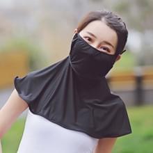 Zomer Outdoor Ice Silk Zonneschaduw Gezichtsmasker Zon-proof Sjaal (Zwart)
