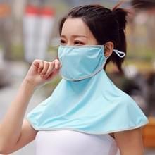 Zomer Outdoor Ice Silk Zonneschaduw Gezichtsmasker Zon-proof Sjaal (Lake Blue)