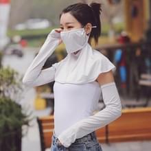 Zomer Outdoor Ice Silk Zonneschaduw Gezichtsmasker Zon-proof Sjaal (Grijs)
