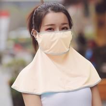 Zomer Outdoor Ice Silk Zonneschaduw Gezichtsmasker Zon-proof Sjaal (Beige)