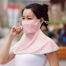Zomer Outdoor Ice Silk Zonneschaduw Gezichtsmasker Zon-proof Sjaal (Rood)