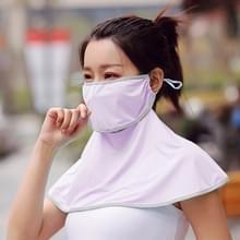 Zomer Outdoor Ice Silk Zonnescherm Gezichtsmasker Zon-proof Sjaal (Licht paars)