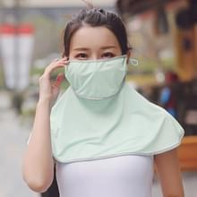 Zomer Outdoor Ice Silk Zonneschaduw Gezichtsmasker Zon-proof Sjaal (Lichtgroen)