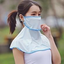 Zomer Outdoor Ice Silk Zonnescherm Gezichtsmasker Zon-proof Sjaal (Sky Blue)