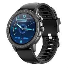 S02 1 3 inch IPS-kleur Full-screen Touch Smart Watch  Support Weather Forecast / Hartslagmeter / Slaapmonitor / Bloeddrukbewaking(Zwart)