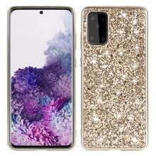 Voor Galaxy S20+ Plating Glittery Powder Shockproof TPU Protective Case(Gold)