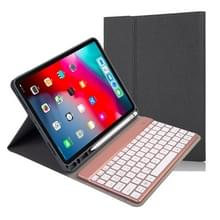 RK11A Backlight TPU Multi Color Light Bluetooth Keyboard Horizontal Flip Leather Case for iPad Pro 11 2020 / 2018 with Holder & Pen Slot(Black)