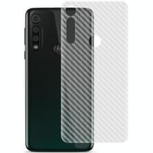 Voor Motorola Moto G8 Play IMAK PVC Carbon Fiber Textuur Doorschijnende Feel Back Film