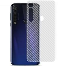 Voor Motorola Moto G8 Plus IMAK PVC Carbon Fiber Textuur Doorschijnende Feel Back Film