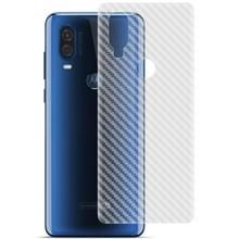 Voor Motorola Moto P50 / One Vision IMAK PVC Carbon Fiber Textuur Doorschijnende Feel Back Film