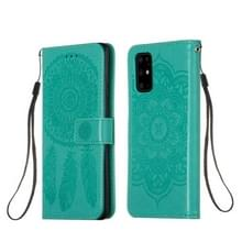 Voor Galaxy S20 Plus Dream Catcher Printing Horizontal Flip Leather Case met Holder & Card Slots & Wallet & Lanyard(Green)