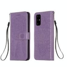 Voor Galaxy S20 Plus Dream Catcher Printing Horizontal Flip Leather Case met Holder & Card Slots & Wallet & Lanyard(Purple)