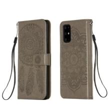 Voor Galaxy S20 Plus Dream Catcher Printing Horizontal Flip Leather Case met Holder & Card Slots & Wallet & Lanyard(Grijs)