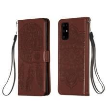 Voor Galaxy S20 Plus Dream Catcher Printing Horizontal Flip Leather Case met Holder & Card Slots & Wallet & Lanyard(Brown)