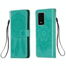 Voor Galaxy S20 Ultra Dream Catcher Printing Horizontal Flip Leather Case met Holder & Card Slots & Wallet & Lanyard(Green)
