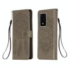 Voor Galaxy S20 Ultra Dream Catcher Printing Horizontal Flip Leather Case met Holder & Card Slots & Wallet & Lanyard(Grijs)
