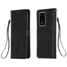 Voor Galaxy S20 Ultra Dream Catcher Printing Horizontal Flip Leather Case met Holder & Card Slots & Wallet & Lanyard(Black)