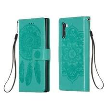 Voor Galaxy Note 10 Dream Catcher Printen Horizontale Flip Lederen Hoes met Houder & Card Slots & Wallet & Lanyard(Groen)
