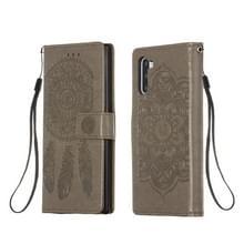 Voor Galaxy Note 10 Dream Catcher Print Horizontale Flip Lederen Hoes met Houder & Card Slots & Wallet & Lanyard(Grijs)