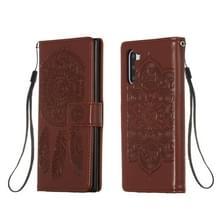 Voor Galaxy Note 10 Dream Catcher Print Horizontale Flip Lederen Hoes met Houder & Card Slots & Wallet & Lanyard(Brown)