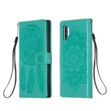 Voor Galaxy Note 10 Plus Dream Catcher Printing Horizontal Flip Leather Case met Holder & Card Slots & Wallet & Lanyard(Green)
