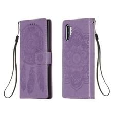 Voor Galaxy Note 10 Plus Dream Catcher Printing Horizontal Flip Leather Case met Holder & Card Slots & Wallet & Lanyard(Purple)