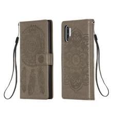 Voor Galaxy Note 10 Plus Dream Catcher Printing Horizontal Flip Leather Case met Holder & Card Slots & Wallet & Lanyard(Grijs)