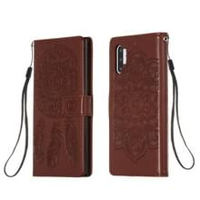 Voor Galaxy Note 10 Plus Dream Catcher Printing Horizontal Flip Leather Case met Holder & Card Slots & Wallet & Lanyard(Brown)