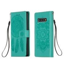 Voor Galaxy S10 Dream Catcher Printing Horizontal Flip Leather Case met Holder & Card Slots & Wallet & Lanyard(Green)