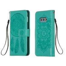 Voor Galaxy S10e Dream Catcher Printing Horizontal Flip Leather Case met Holder & Card Slots & Wallet & Lanyard(Green)