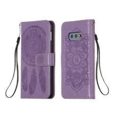 Voor Galaxy S10e Dream Catcher Printing Horizontal Flip Leather Case met Holder & Card Slots & Wallet & Lanyard(Purple)