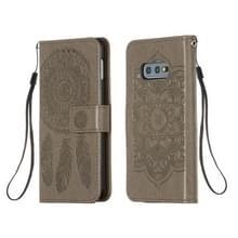 Voor Galaxy S10e Dream Catcher Printing Horizontal Flip Leather Case met Holder & Card Slots & Wallet & Lanyard(Grijs)