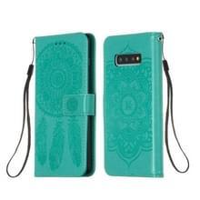 Voor Galaxy S10 Plus Dream Catcher Printing Horizontal Flip Leather Case met Holder & Card Slots & Wallet & Lanyard(Green)