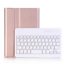 A290 Voor Galaxy Tab A 8.0 T290 / T295 (2019) Afneembare Bluetooth-toetsenbord lederen behuizing met standaardfunctie(Rose Gold)