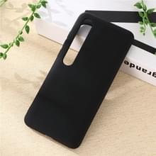 Voor Xiaomi Mi 10 5G Solid Color Liquid Silicone Shockproof Coverage Case (Zwart)