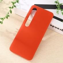 Voor Xiaomi Mi 10 5G Solid Color Liquid Silicone Shockproof Coverage Case(Rood)