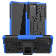 Voor Galaxy S10e Tire Texture Shockproof TPU+PC Protective Case met Holder(Blue)