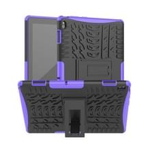 Voor Lenovo Tab E10 Tire Texture Shockproof TPU+PC Protective Case with Holder (Purple)