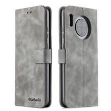 Voor Huawei Mate 30 Diaobaolee Pure Fresh Grain Horizontal Flip Leather Case met Holder & Card Slots (Grijs)