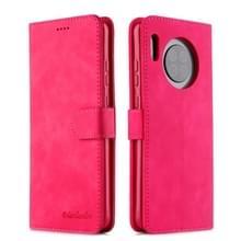 Voor Huawei Mate 30 Pro Diaobaolee Pure Fresh Grain Horizontal Flip Leather Case met Holder & Card Slots(Rood)