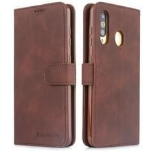 Voor Galaxy S10 Diaobaolee Pure Fresh Grain Horizontal Flip Leather Case met Holder & Card Slots(Brown)