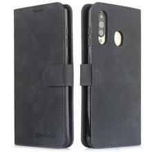 Voor Galaxy S10 Diaobaolee Pure Fresh Grain Horizontal Flip Leather Case met Holder & Card Slots(Zwart)