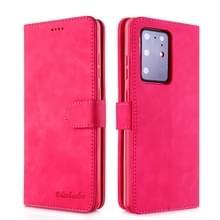 Voor Galaxy S20+ Diaobaolee Pure Fresh Grain Horizontal Flip Leather Case met Houder & Card Slots(Rood)