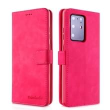 Voor Galaxy S20 Ultra Diaobaolee Pure Fresh Grain Horizontal Flip Leather Case met Houder & Card Slots(Rood)