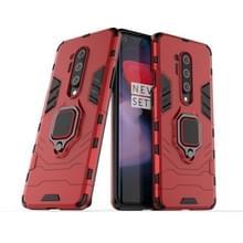 Voor OnePlus 8 Pro PC + TPU Shockproof Beschermhoes met magnetische ringhouder (rood)