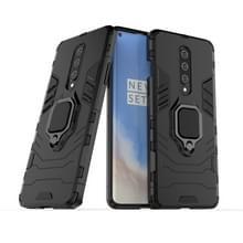 Voor OnePlus 8 PC + TPU Shockproof Beschermhoes met magnetische ringhouder (zwart)
