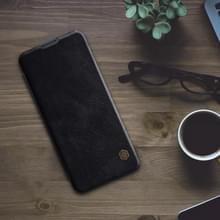 Voor Xiaomi Mi 10 5G/Mi 10 Pro 5G NILLKIN QIN-serie Crazy Horse Texture Horizontale Flip Lederen case met kaartsleuf(Zwart)
