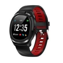 T01 1 3 inch TFT kleurenscherm IP68 Waterproof Sport Smart Watch  ondersteuning lichaamstemperatuur meting / hartslagmeting / slaapmonitor  stijl:met TPU-horlogeband (zwart)
