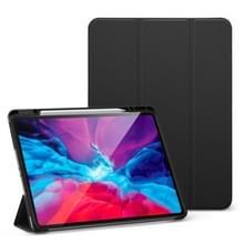 Voor iPad Pro 12.9 (2020) ESR Rebound Series TPU Horizontale Flip Lederen kast met Holder & Sleep / Wake-up Functie & Pen Slot(Zwart)