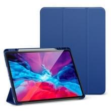 Voor iPad Pro 12.9 (2020) ESR Rebound Series TPU Horizontale Flip Lederen Case met Holder & Sleep / Wake-up Function & Pen Slot(Navy Blue)